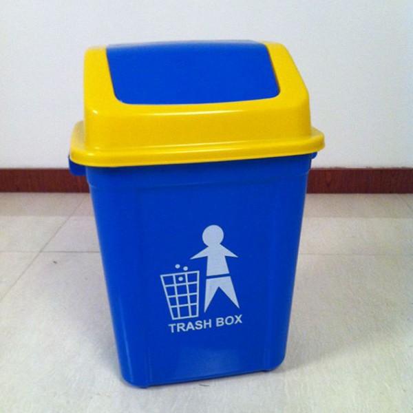 不同颜色的塑料垃圾桶通常代表哪些垃圾?